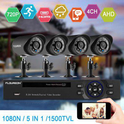 FLOUREON 1 X 8CH 1080N AHD DVR  4 X Outdoor 1500TVL 720P Camera Security Kit UK