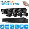 FLOUREON 1 8CH 1080N AHD DVR and  4 Outdoor 1500TVL  Camera Security Kit EU
