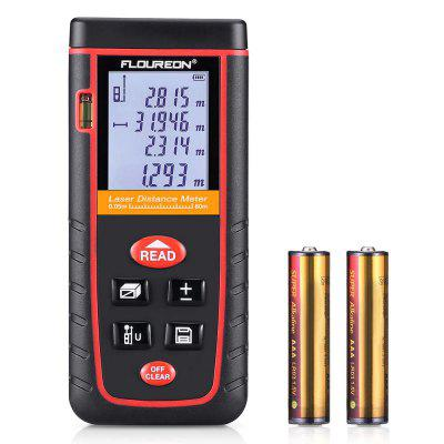 Floureon Laser Distance Meter 0.05 to 80m or 0.16 to 262ft High-precision Laser Distance Meter