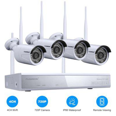 FLOUREON 4CH Wireless 1080P DVR Kit 720P IP Camera Security Video Recorder NVR System US