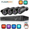 FLOUREON 1 X 8CH 1080P 1080N AHD DVR and 4 X Outdoor 3000TVL 1080P 2.0MP Camera Security Kit UK