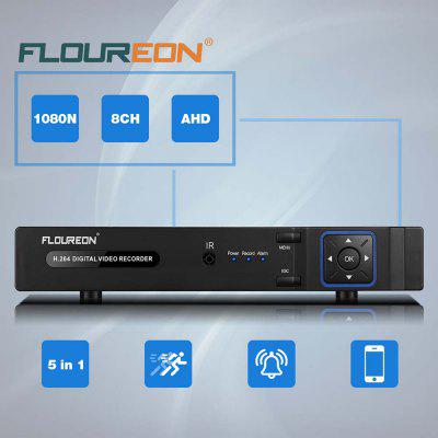 FLOUREON 5 IN 1 TVI 8CH AHD 1080N HDMI H.264 CCTV Security Video Recorder DVR NVR