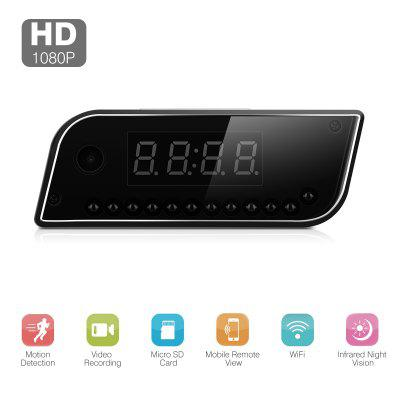HD 1080P Surveillanc Wifi Camera Motion Security Alarm Clock IR Nanny Camera DVR