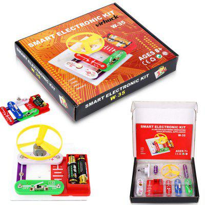 Science DIY Electronics Discovery Blocks Educational Toy DIY Circuits Kids Electronic Discovery Kit