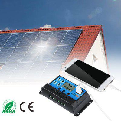 FLOUREON 10A 20A 30A Solar Charge Controller Solar Panel Battery Intelligent Regulator