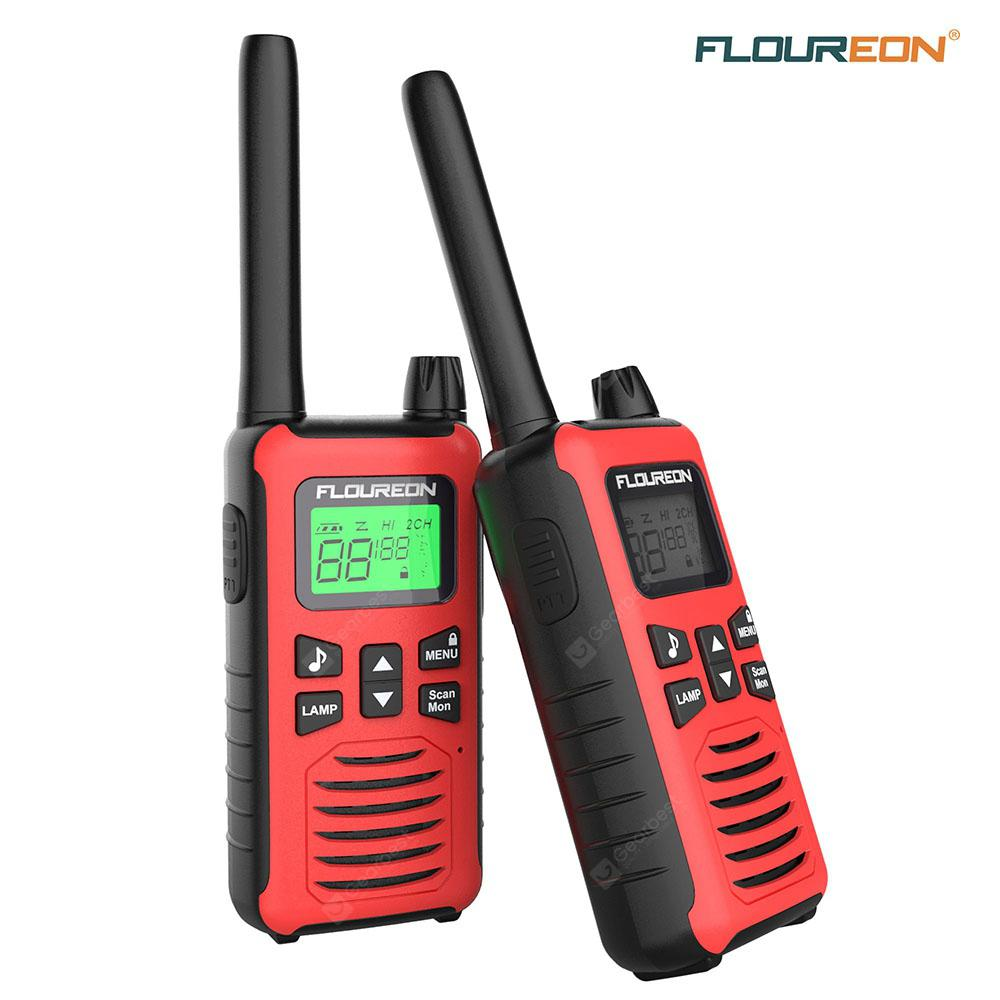 2 Pack Walkie Talkies 8 Channel Interphone 2 Way Radio PMR 446MHZ 3300 Meters A+