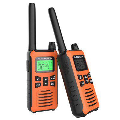 FLOUREON 16 Channel Twins Walkie Talkies PMR 446MHZ Two Way Radio orange