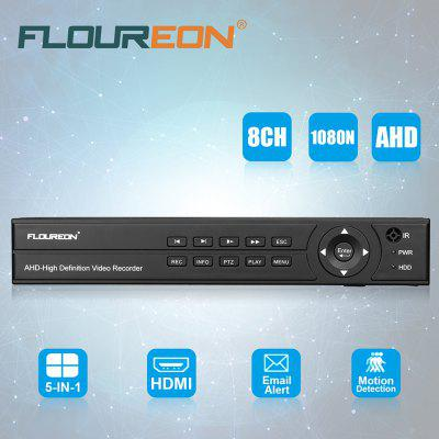 FLOUREON 8CH 1080N HDMI H.264 CCTV Security Video Recorder Cloud DVR UK NO HDD