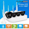 Floureon 4CH Wireless CCTV 1080P DVR Kit Outdoor Wifi WLAN 720P 1.0MP IP Camera NVR System EU