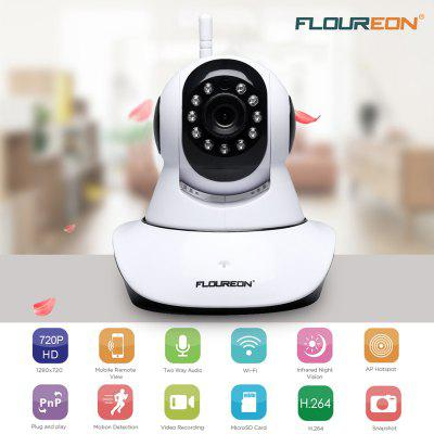 FLOUREON 720P Wifi 1.0 Megapixel Wireless Pan or Tile CCTV Security IP Camera EU