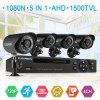 FLOUREON 1  4CH 1080N AHD DVR And 4 X Outdoor 1500TVL 720P 1.0MP Camera Security Kit
