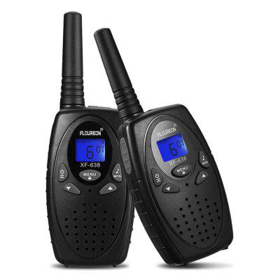 FLOUREON 22 Channel Walkie Talkies FRS OR GMRS 462-467MHZ Two-Way Radio 3KM Inter phone Black US