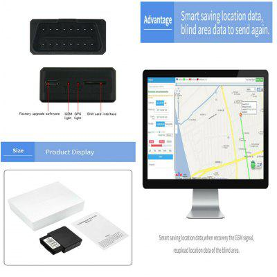 Mini OBD 2 Car GPS Tracker SMS GPRS Over Speed Alarm Geo-fence Movement Alarm