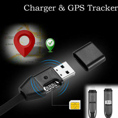 2 in1 Hidden Car GPS Tracker USB Charger Cable Motorcycle Truck Real Time