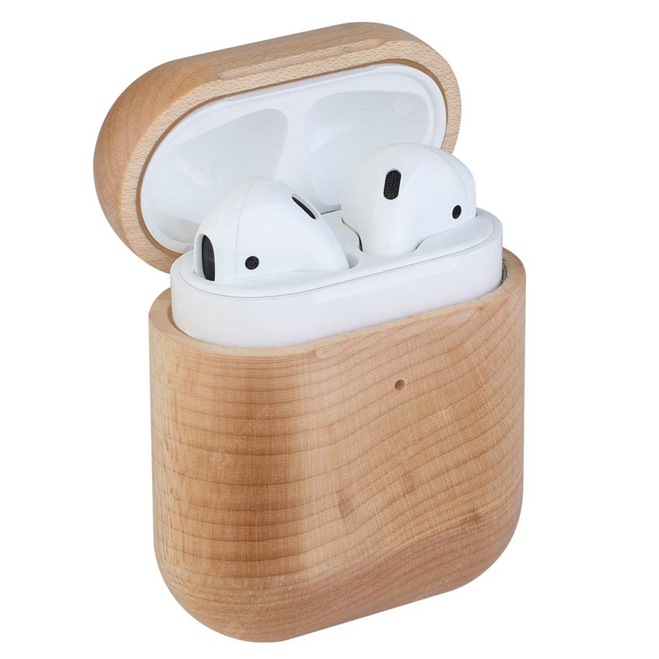 Earphone Shockproof Wooden Cover For AirPods Handcrafted Case Cover For Airpods