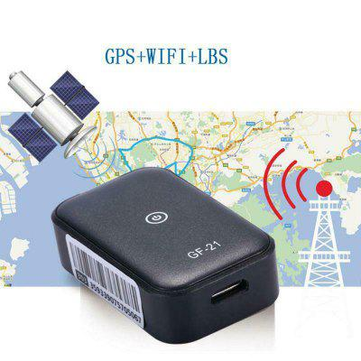 GF21 Mini Real Time Car GPS Tracker Locator WIFI LBS GPS Positioning Device