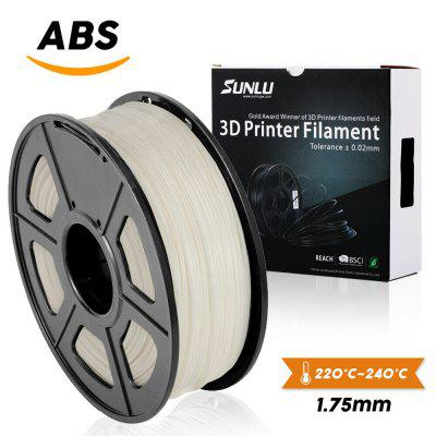 ABS Filament for 3D Printer 1.75mm 1KG 2.2LB Spool White No Bubbles