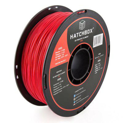 ABS 1.75 mm 3D Printer Filament in Red 1kg Spool
