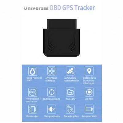 OBD Car GPS Tracker 16Pin Interface Real-time Tracking Geofence Over Speed Alarm