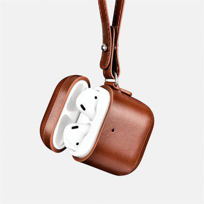 Leather Case For Apple Airpods Protective Case Headphones Leather Case LED Light Cover