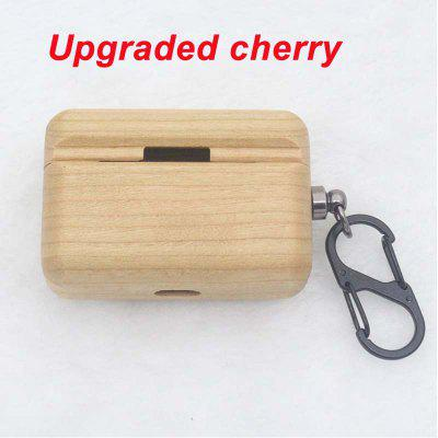 Wood Case Cover with Keychain for Airpods Pro Holder Best Waterproof Shockproof Replacement