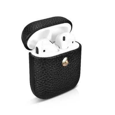 Leather Case for Apple AirPods Cool  Bluetooth Earphones Protective Skin Cases Cover for AirPods