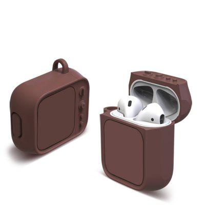 Waterproof Silicone Cover Case for iPhone AirPods Wireless Headphones Cases Skin With Keychain