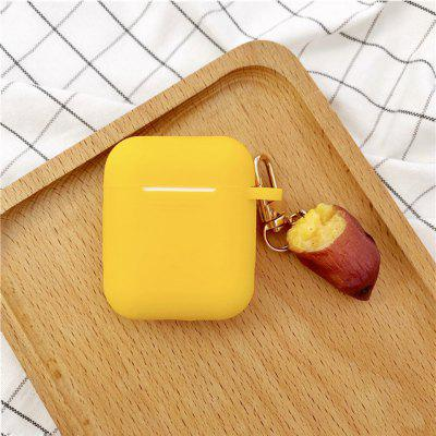 Potato Decoration Silicone Case for Airpods 1 Cute Yellow Earphones Protective Cover Skin Cases