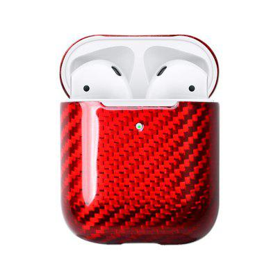 Real Carbon Fiber LED Cover For AirPods with Wireless Earphones Charger Charging Case Replacement
