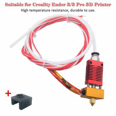 1 x Extruder Heater Hot End Set 0.4mm Nozzle for Creality 3 3 Pro 3D Printer