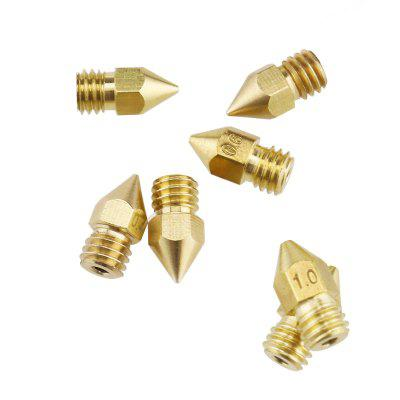 3D Printer Nozzles Head Kit 0.2mm-1.0mm Brass For 1.75mm MK8 Printer Accessory