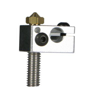 3D Printer Nozzle Heating Block and Throat Use for A3S A5 A5S 1PC