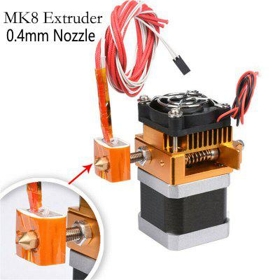 BZ MK8 Extruder Head J-head Hotend 0.4mm Nozzle for 3D Printer