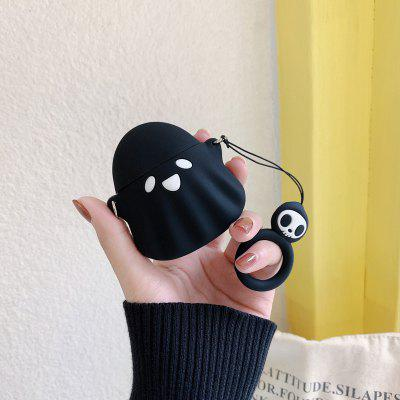 Funny Cartoon Ghost Cute Cover for Airpods 2 Charger Wireless Charging Case with Keychain