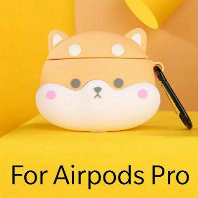 Cartoon Case For AirPods Pro Silcone Case For AirPods 3 Cute Yellow Dog Protective Cover with Hook