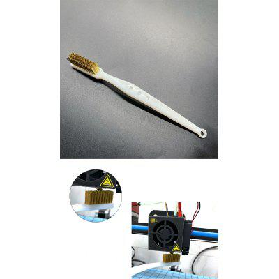 3D Printer Cleaning Tool Copper Wire Toothbrush Copper Brush Handle Hotend Parts For Nozzle Block