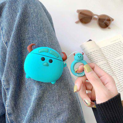 Funny 3D Monster Cute Cover for Airpods 2 Wireless Charging Anti-dust Silicone Case