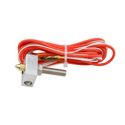 Hot End 3D Printer Kit MK8 0.4mm Nozzle Extruder Throat 12V 40W Thermistor Aluminum Heater Block