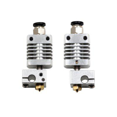 1set J-head Hotend Bowden Assembled Extruder 1.75mm Nozzle 0.4mm Kit For CREALITY Ender 3