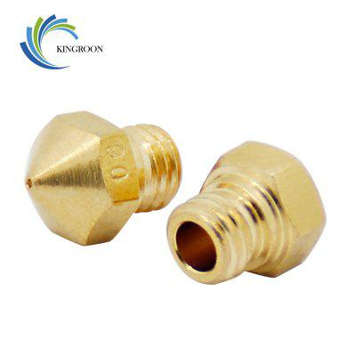 5pcs MK10 Nozzle 0.6mm Copper M7 Threaded Part For Extrusion 1.75mm Filament Brass 3D Printers Parts