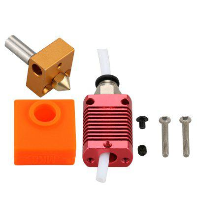Assembled 1.75mm Extruder Hotend kit Aluminum Heat Block Dor 3D Printer Ender-3 CR-10 CR-10S