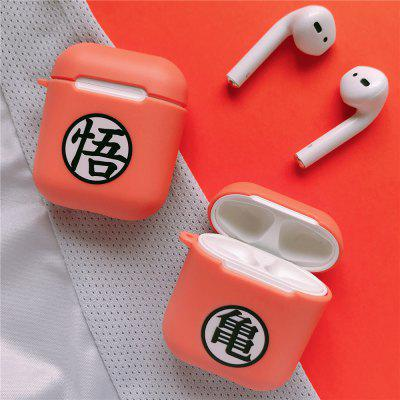 Anime Earphone Cover Case For AirPods 2 1 Orange Soft Silicone wireless Bluetooth Accessories