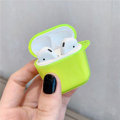Fluorescent Yellow for AirPods Clear Case Earphone Protective Cover for Air Pods 2 Clear Case