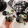 For AirPod 2 1 Case 3D Cool Camouflage Bear Cartoon Soft Silicone Earphone Cases For Airpods