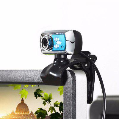 Universal 12MP Webcam HD 3 LED USB Camera with Mic Night Vision for PC Computer