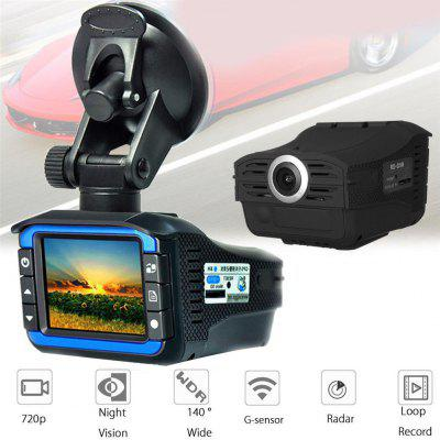 HD 720P Car DVR Camera Webcam Live Voice Prompt Dash Cam Radars Detector Video Recorder