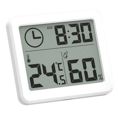 Digital Temperature Humidity Clock Big LCD Electronic Thermometer Hydrometer Meter With Stand