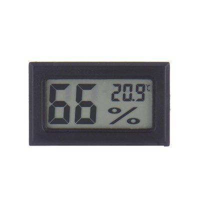 Mini Black Digital LCD Temperature Humidity Indoor Room Humidity Meter Thermometer Hygrometer