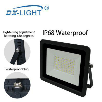 Ultra-thin 100W LED Flood Lights 110V Floodlight Spotlight IP68 Waterproof Outdoor Garden Lamp