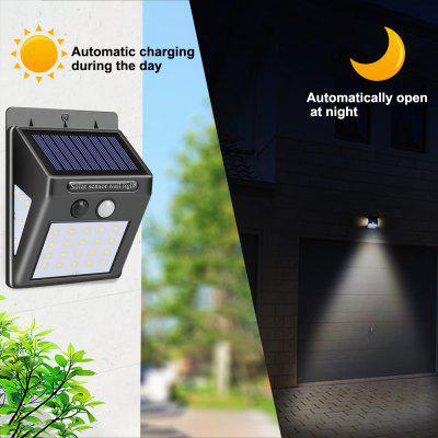 40 LED Solar Powered Lamp PIR Motion Sensor Outdoor Waterproof Energy Saving Wall Security Light